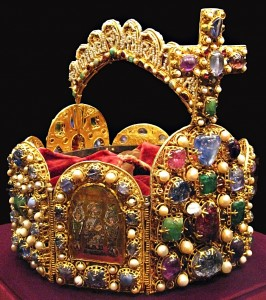 The crown of Otto the Great, Duke of Saxony, King of Germany, King of Italy, and the Holy Roman Emperor from AD 936 to 973—the most famous and successful person on earth during the tenth century.